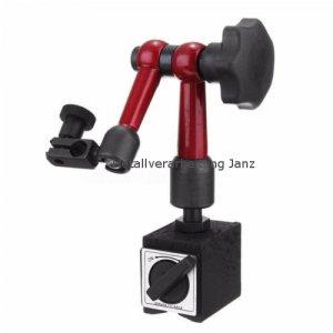 Flexibel Messuhr Halter Messuhrhalter Magnetfuß Magnetstativ Rot