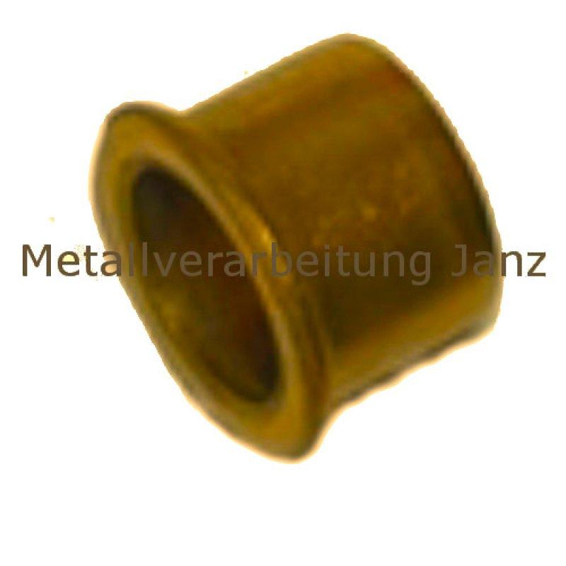 Sinterbronze Buchse mit Bund Durchmesser 4//8//12 x 4 mm Gleitlager für 4 mm Welle