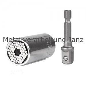 Multi-Einsatz 7 - 19 mm Universal Nuss Multischlüssel Steckschlüssel -1 Stück