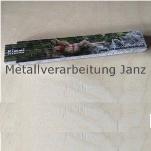 Zollstock / Gliedermaßstab aus Holz 2m - Sarah
