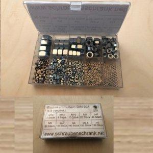 Sortiment 530-teilig Sechskantmuttern DIN 934 M2 - M14 verzinkt