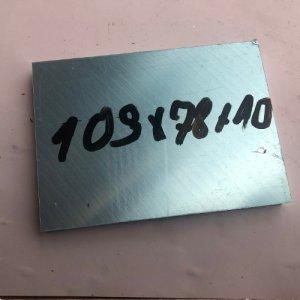 Reststücke Aluminium Vierkant 78x10mm Länge 109 mm