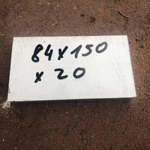 Reststücke Aluminium Vierkant 84x20mm Länge 150 mm