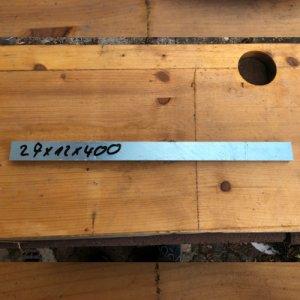 Reststücke Aluminium Vierkant 27x12mm Länge 400 mm