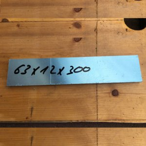 Reststücke Aluminium Vierkant 63x12mm Länge 300 mm
