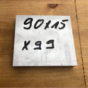 Reststücke Aluminium Vierkant 90x15mm Länge 99 mm