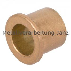 Sinterbronze Buchse mit Bund Durchmesser 25/30/35 x 25 mm Gleitlager für 25 mm Welle - 1 Stück