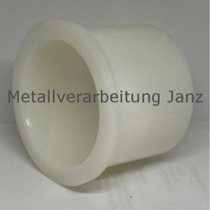Bohrbuchse mit Bund aus Polyamid Durchmesser 12/16/20 x 10 mm Lager für 12 mm Welle - 1 Stück