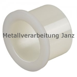Bohrbuchse mit Bund aus Polyamid Durchmesser 20/25/30 x 15 mm Lager für 20 mm Welle - 1 Stück
