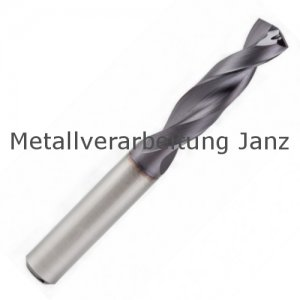 VHM Bohrer Typ UNI 1,20 mm 4xD, mit Innenkühlung TIALN - 1 Stück