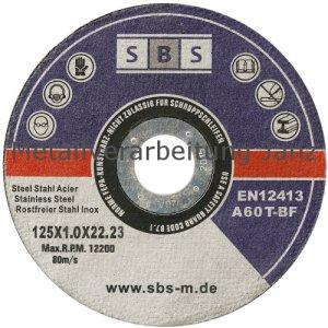 SBS Inox Trennscheiben 125 x 1,0 mm - 1 Stück