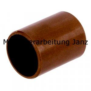 Gleitlagerbuchsen aus Kunststoff Durchmesser 10 x 12 x 4 mm Gleitlager für 10mm Welle 10/12x4mm Lager - 1 Stück