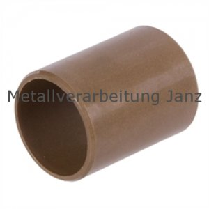 Gleitlagerbuchsen aus Kunststoff Durchmesser 15 x 17 x 15 mm Gleitlager für 15mm Welle 15/17x15mm Lager - 1 Stück