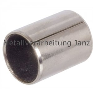 Buchsen, geschlitzt (völlig ungeschmiert) Durchmesser 16/18 x 20 mm Lager für 16 mm Welle - 1 Stück