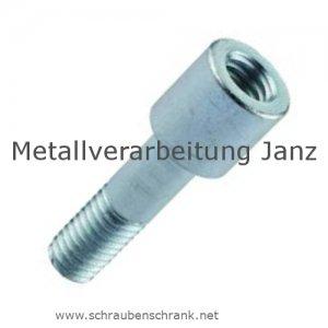 Fettnippel / Schmiernippel Verlängerung verzinktl M 6X1,0 mm Länge 20 mm