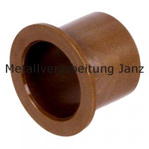 Gleitlager Bundbuchsen aus Kunststoff Durchmesser 10/12/18 x 12 mm Gleitlager für 10mm Welle - 1 Stück