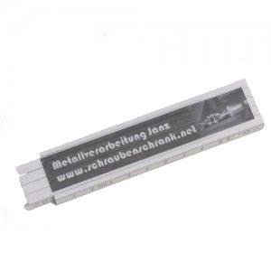 Zollstock / Gliedermaßstab aus Kunststoff 1m - MVJ