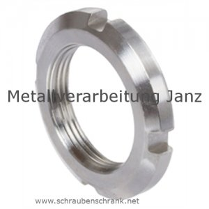 Nutmuttern DIN 981 M12x1,0 mm Typ KM 1 Edelstahl - 1 Stück