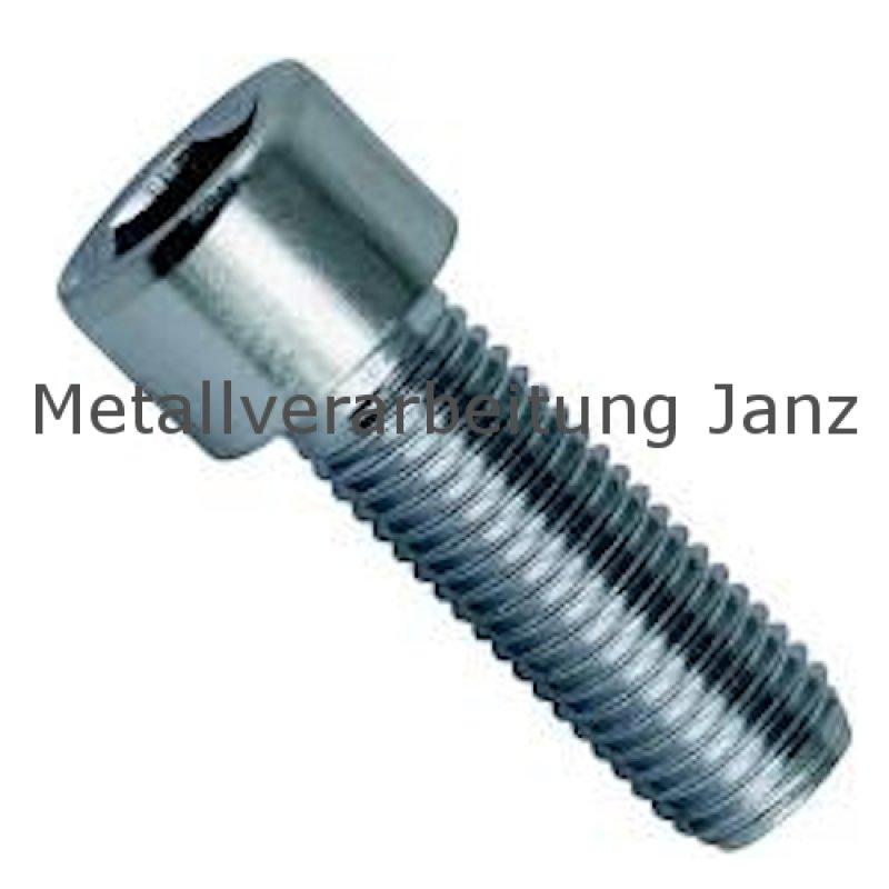 Zylinderschrauben mit Innensechskant - DIN 912 Zylinderkopfschrauben 50 St/ück M10x25 - ISO 4762 - Vollgewinde SC912 aus rostfreiem Edelstahl A2 V2A
