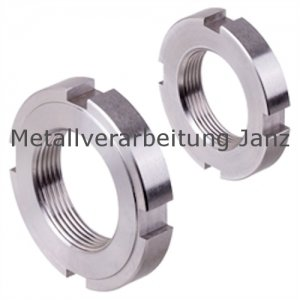 Nutmutter DIN 1804 Form RF M16 x 1,5 mm Edelstahl 1.4301 ungehärtet - 1 Stück