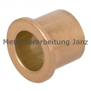 Sinterbronze Buchse mit Bund Durchmesser 20/26/32 x 15 mm Gleitlager für 20 mm Welle - 1 Stück