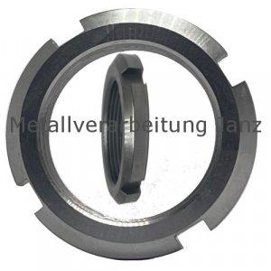 Nutmutter UW rostfrei mit Sicherungseinlage Gewinde M100x2,0 Edelstahl 1.4301 - 1 Stück