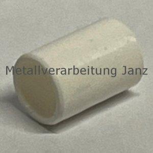 Buchse EP22 Bohrung 8 mm Außendurchmesser 10 mm Länge 10 mm Farbe weiß - 1 Stück