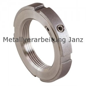 Nutmutter KMK-R Material 1.4301 mit integrierter Sicherung Größe 1 Gewinde M12x1,0  - 1 Stück