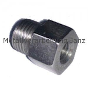 Reduzierstück für Schmiernippel aus Edelstahl Länge 15 mm Innen M8X1,0 x Aussen M10X1,0 SW 12 - 1 Stück