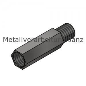 Fettnippel / Schmiernippel Verlängerung Edelstahl M 6X1,0 mm SW 8 - 1 Stück