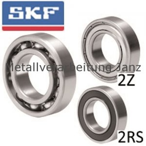 SKF Rillenkugellager einreihig Innen-Ø 15mm Außen-Ø 32mm Breite 9mm mit offenen Deckscheiben Lagerluft C3 - 1 Stück
