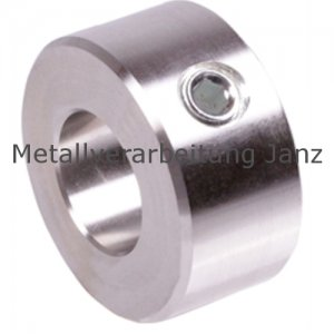 Stellring DIN 703 Gewindestift mit Innensechskant Bohrung 80mm Edelstahl 1.4305 - 1 Stück
