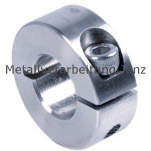 Geschlitzter Klemmring Stahl C45 verzinkt Bohrung 21mm mit Schraube DIN 912 12.9 - 1 Stück