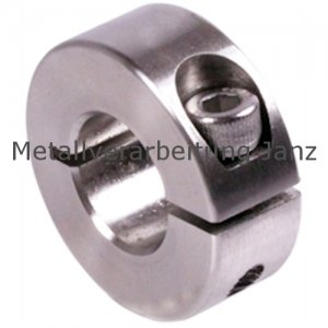 Geschlitzter Klemmring Edelstahl 1.4305 Bohrung 19mm mit Schraube DIN 912 A2-70 - 1 Stück