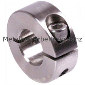 Geschlitzter Klemmring Edelstahl 1.4305 Bohrung 21mm mit Schraube DIN 912 A2-70 - 1 Stück