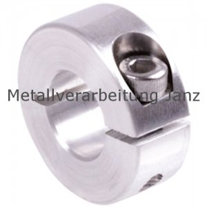 Geschlitzter Klemmring aus Aluminium eloxiert Bohrung 26mm mit Schraube DIN 912 A2-70 - 1 Stück