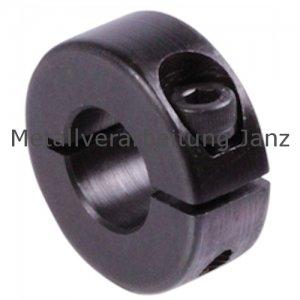Geschlitzter Klemmring Stahl C45 brüniert Bohrung 21mm mit Schraube DIN 912 12.9 - 1 Stück