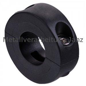 Geteilter Klemmring Kunststoff verstärkt schwarzgrau Bohrung 16mm - 1 Stück