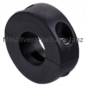 Geteilter Klemmring Kunststoff verstärkt schwarzgrau Bohrung 25mm - 1 Stück