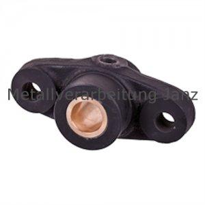 Flanschlager DIN 502 Ausführung A mit Rotgussbuchse Bohrung 25mm D10 - 1 Stück