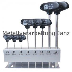 Sechskant-Stiftschlüssel-Sortiment in Metallständer - 8 teilig