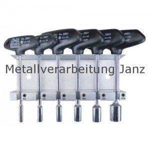 Sechskant-Steckschlüssel-Sortiment- Länge: 125mm -in Metallständer - 6 teilig