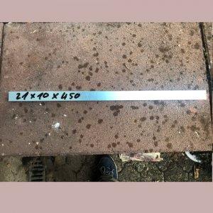Reststücke Aluminium Vierkant 21x10mm Länge 450 mm