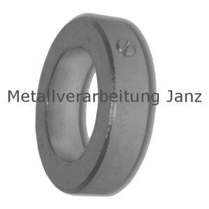 Stellring DIN 705 A Bohrung 7mm brüniert Gewindestift mit Schlitz nach DIN EN 27434 (alte DIN 553) - 1 Stück