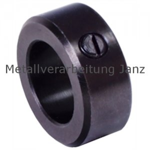 Stellring DIN 705 A Bohrung 12mm brüniert Gewindestift mit Schlitz nach DIN EN 27434 (alte DIN 553) - 1 Stück