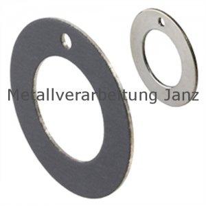 Anlaufscheibe wartungsfrei Innendurchmesser 62mm Außendurchmesser 90mm Breite 2,0mm für Wellendurchmesser 8mm - 1 Stück