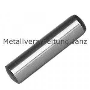 Zylinderstift DIN 6325 Toleranz m6 Stahl gehärtet Durchmesser 2 x 4 mm - 1 Stück