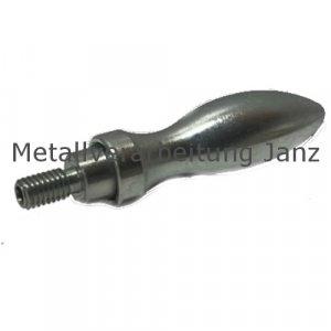 Drehbarer Ballengriff aus Stahl DIN 98 St Durchmesser 20mm Ausführung E mit Gewindezapfen M8 - 1 Stück