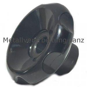 Handrad 527.1 aus Kunststoff Thermoplast mit Stahlnabe mit Umfangsnuten Durchmesser 80mm Bohrung 10H7 - 1 Stück