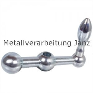 Kugelkurbel 2140 l=25mm Material Stahl mit Ballengriff DIN 39 - 1 Stück